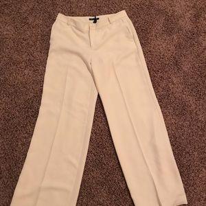 Ralph Lauren wide leg off white trousers 10